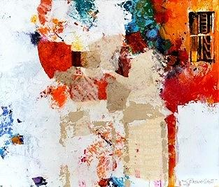 Mixed Media Collage Mixed Media - The Door by Jo Ann Brown-Scott