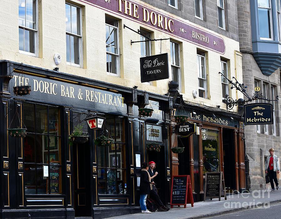 The Doric Tavern and The Hebrides Pub, Market Street, Edinburgh by Yvonne Johnstone