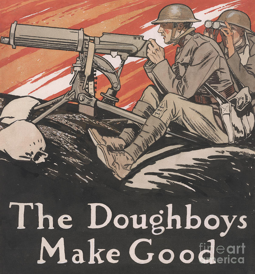 Doughboys Painting - The Doughboys make Good, 1918 by Edward Penfield