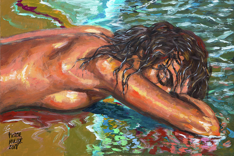 Nude Woman Painting - The dream of the mermaid by Pictor Mulier