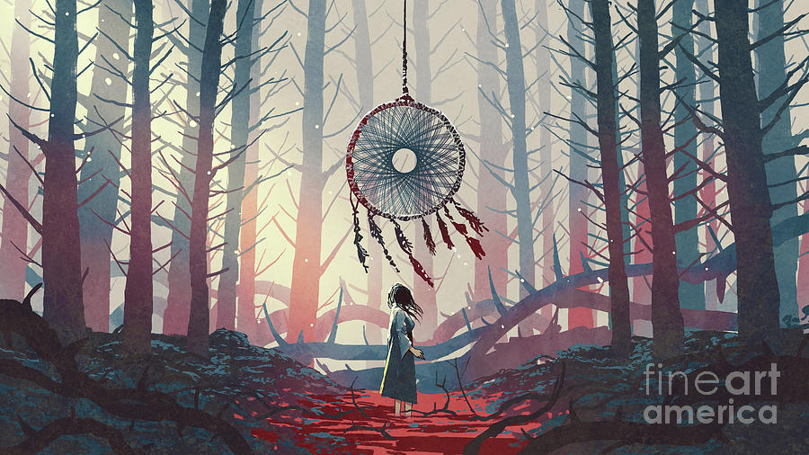The Dreamcatcher Of The Mysterious Forest Painting