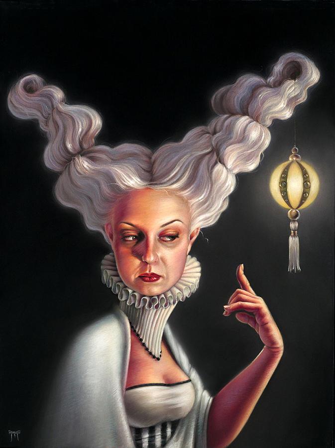 Portrait Pastel - The Dust Seeker by Melanie Stimmell Van Latum