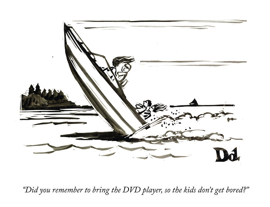The Dvd Player Drawing by Drew Dernavich
