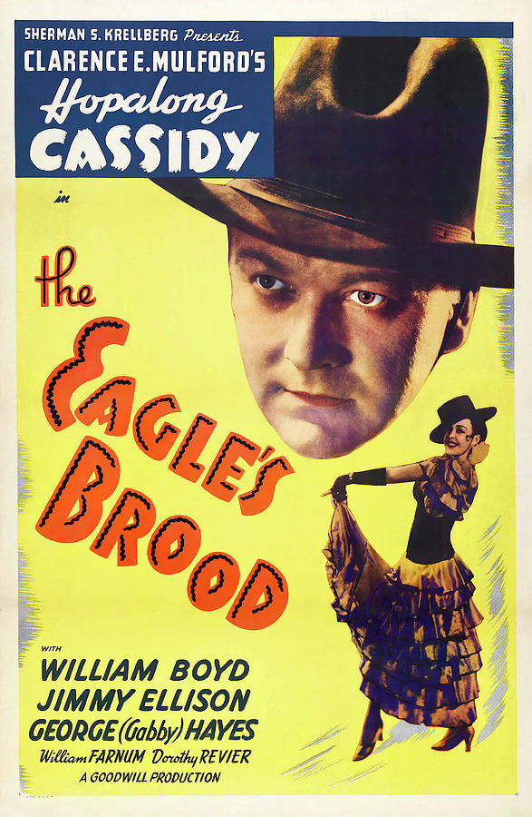 the Eagles Brood -b, With Hopalong Cassidy, 1935 Mixed Media