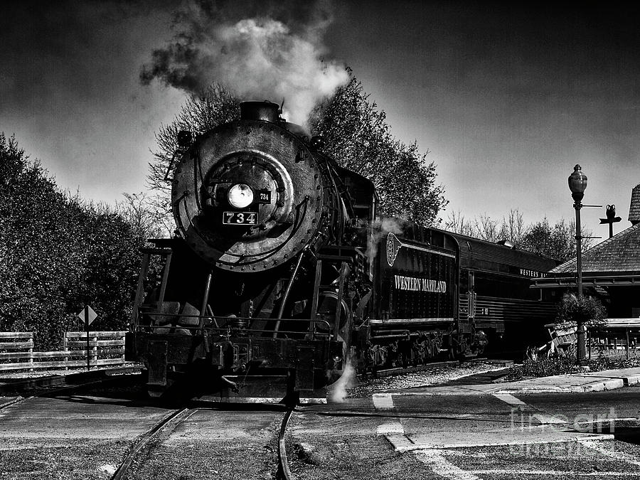 Trains Photograph -  The Tracking Of History  by Steven Digman