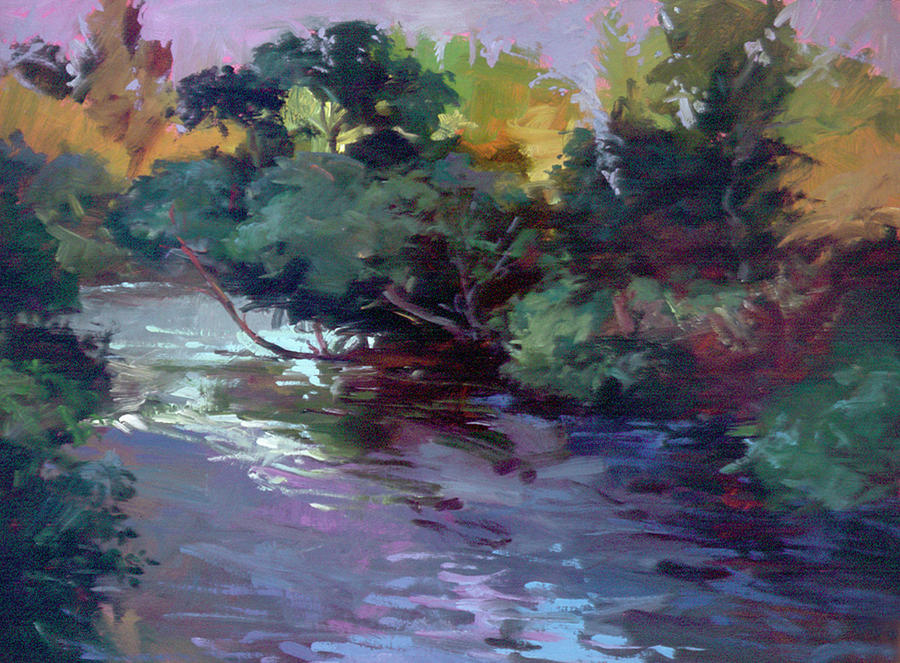 The Edge of Nite Painting by Betty Jean Billups
