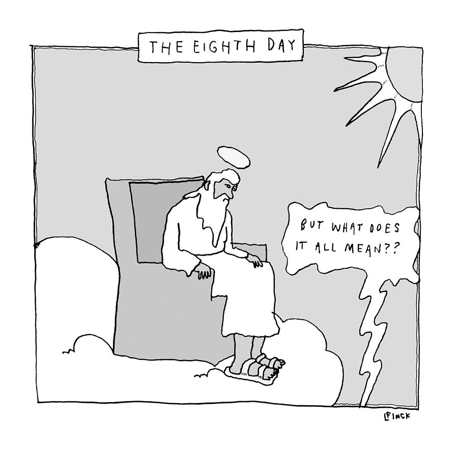 The Eighth Day Drawing by Liana Finck