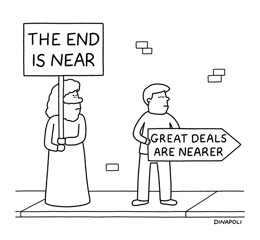 The End Is Near Drawing by Johnny Dinapoli