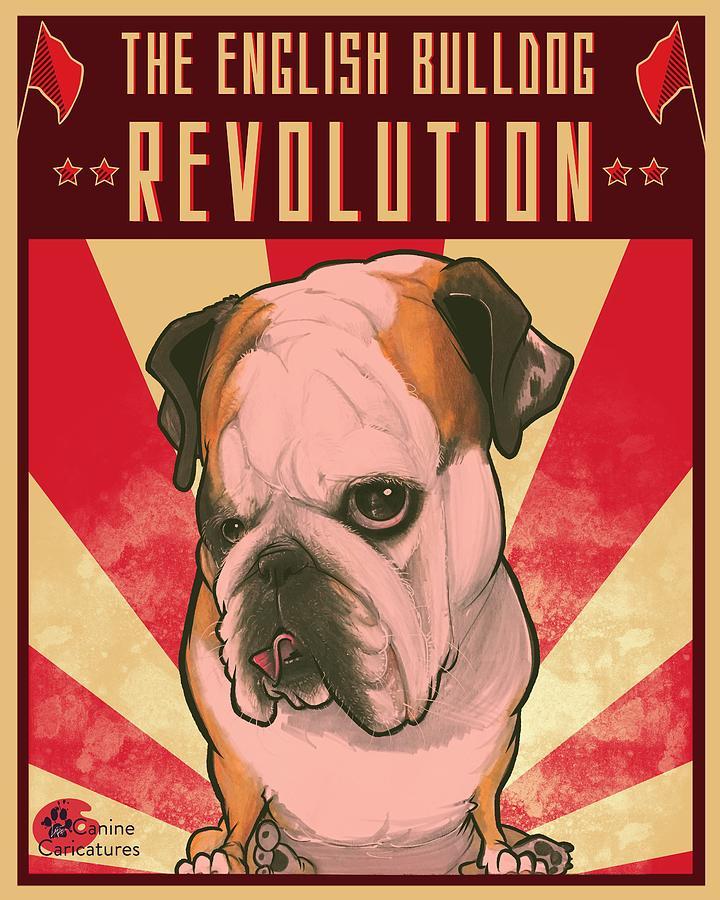 The English Bulldog Revolution Drawing