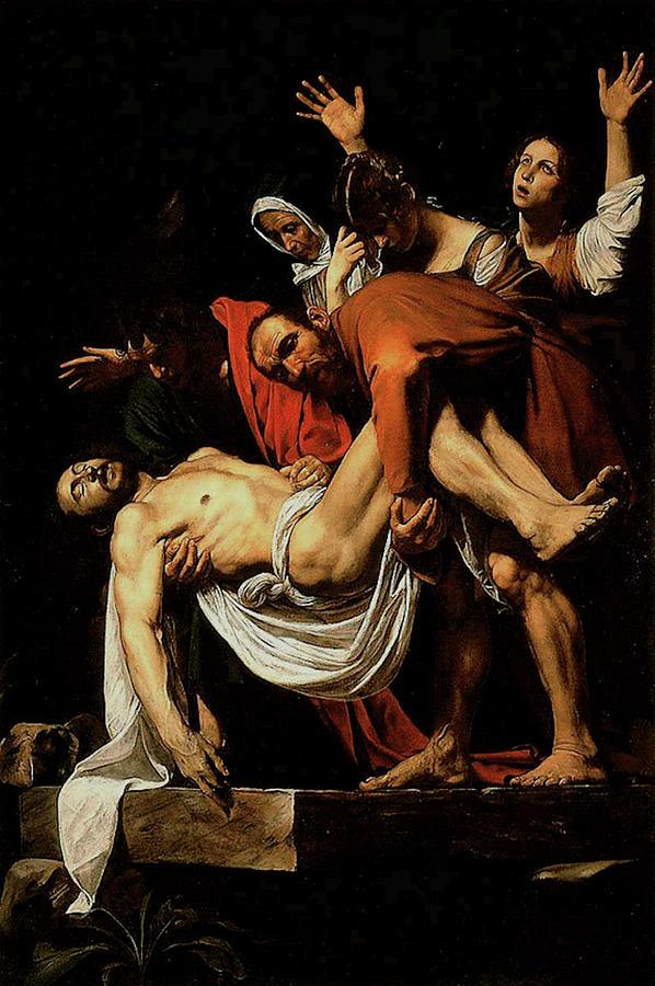 The Entombment of Christ  by Michelangelo Merisi da Caravaggio