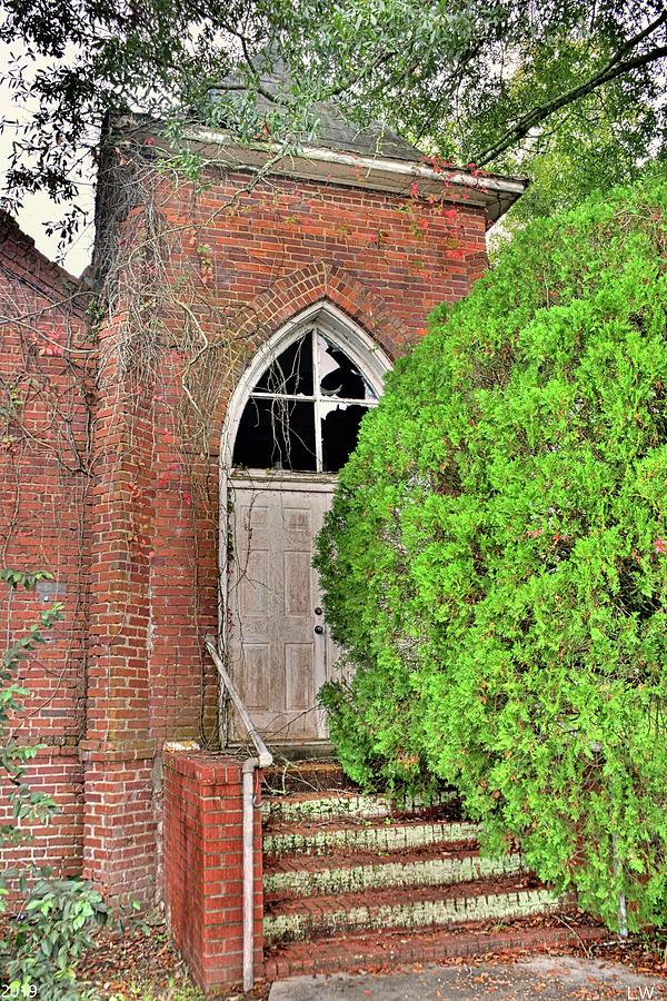 The Entrance To The Tabernacle Baptst Church Blackville SC by Lisa Wooten