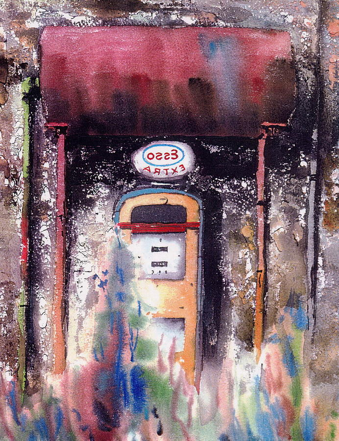 The Esso pump. by Val Byrne