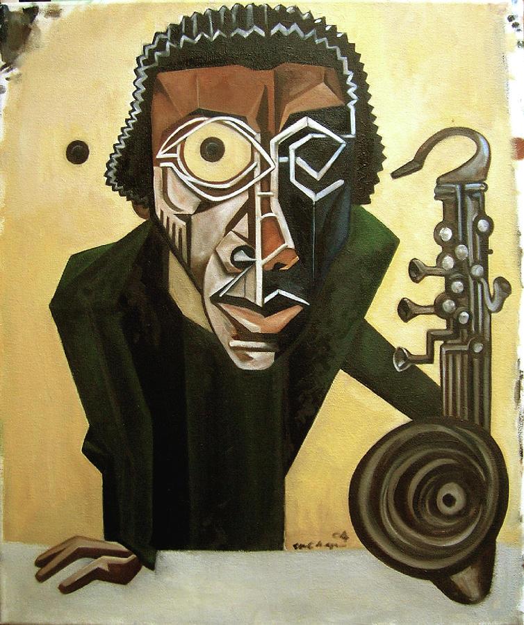 Jazz Painting - The Ethnomusicologist / Marion Brown by Martel Chapman