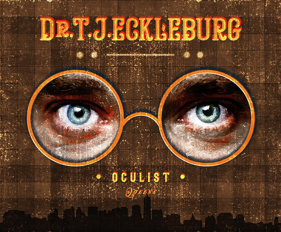 Eyes Mixed Media - The Eyes Of Dr. Tj Eckleburg, Oculist - Brown - 02 - The Great Gatsby - F.scott Fitzgerald by Studio Grafiikka