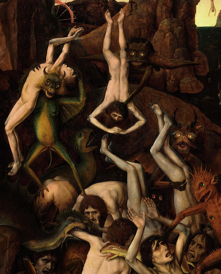 Bouts Painting - The Fall Of The Damned, Detail by Dirk Bouts