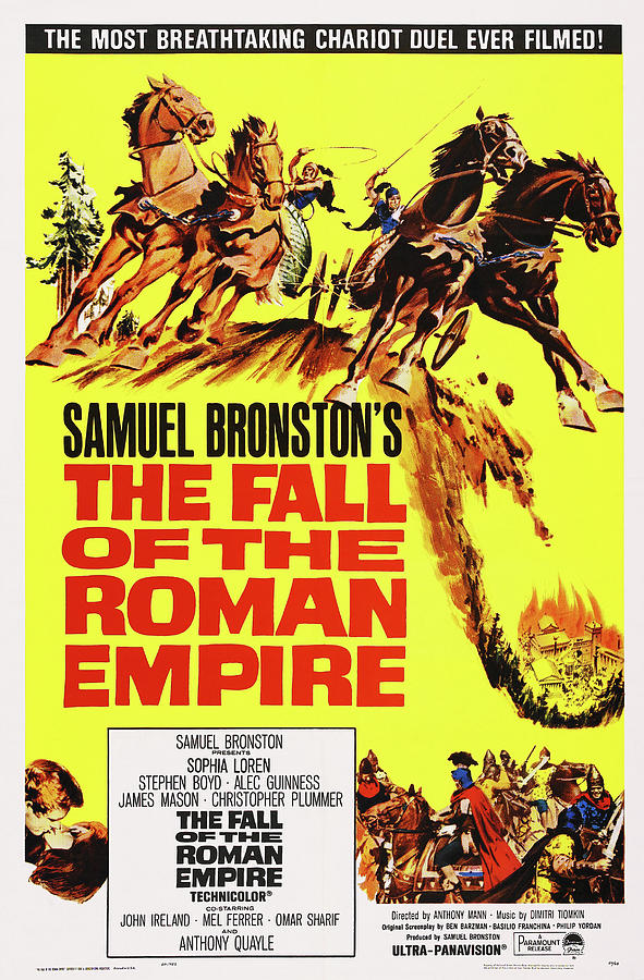 the Fall Of The Roman Empire 2, With Sophia Loren And Alec Guinness, 1964 Mixed Media