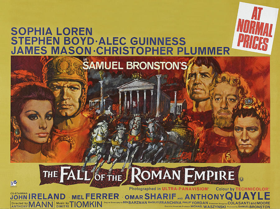 the Fall Of The Roman Empire, With Sophia Loren And Stephen Boyd, 1964 Mixed Media