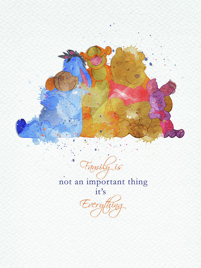 Winnie The Pooh Digital Art - The family of Pooh by Mihaela Pater