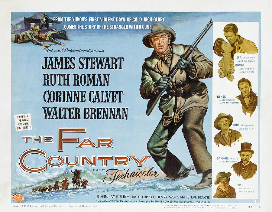 the Far Country 2, With James Stewart And Ruth Roman, 1954 Mixed Media