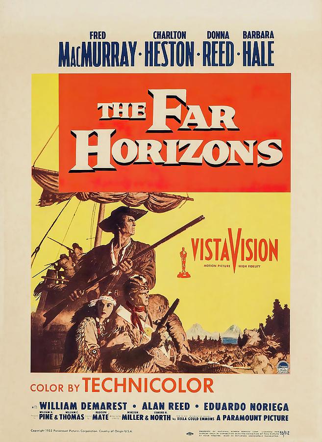 the Far Horizons, With Fred Macmurray And Charlton Heston, 1955 Mixed Media