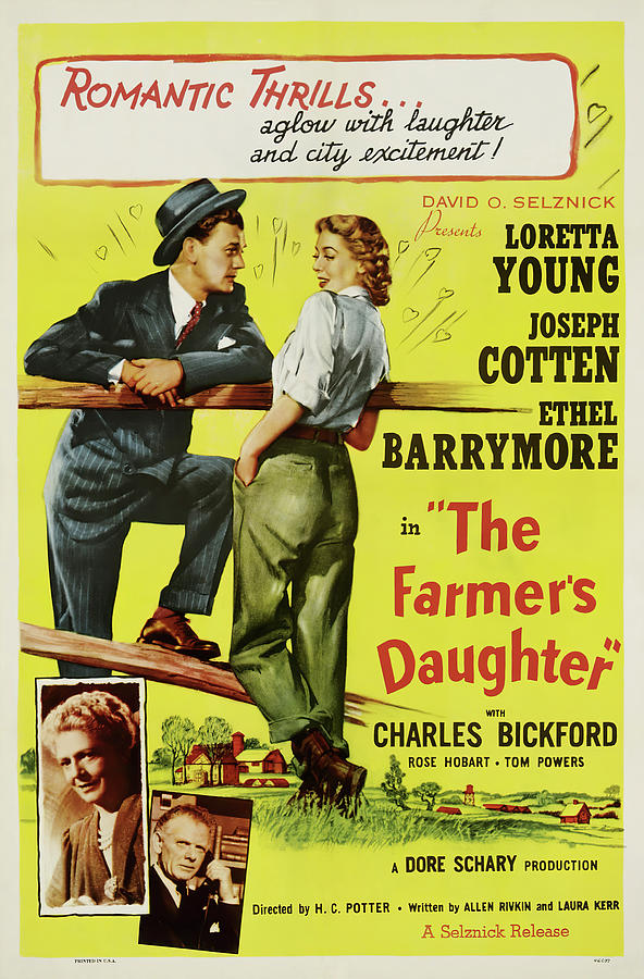 the Farmers Daughter 2, With Loretta Young And Joseph Cotten, 1947 Mixed Media