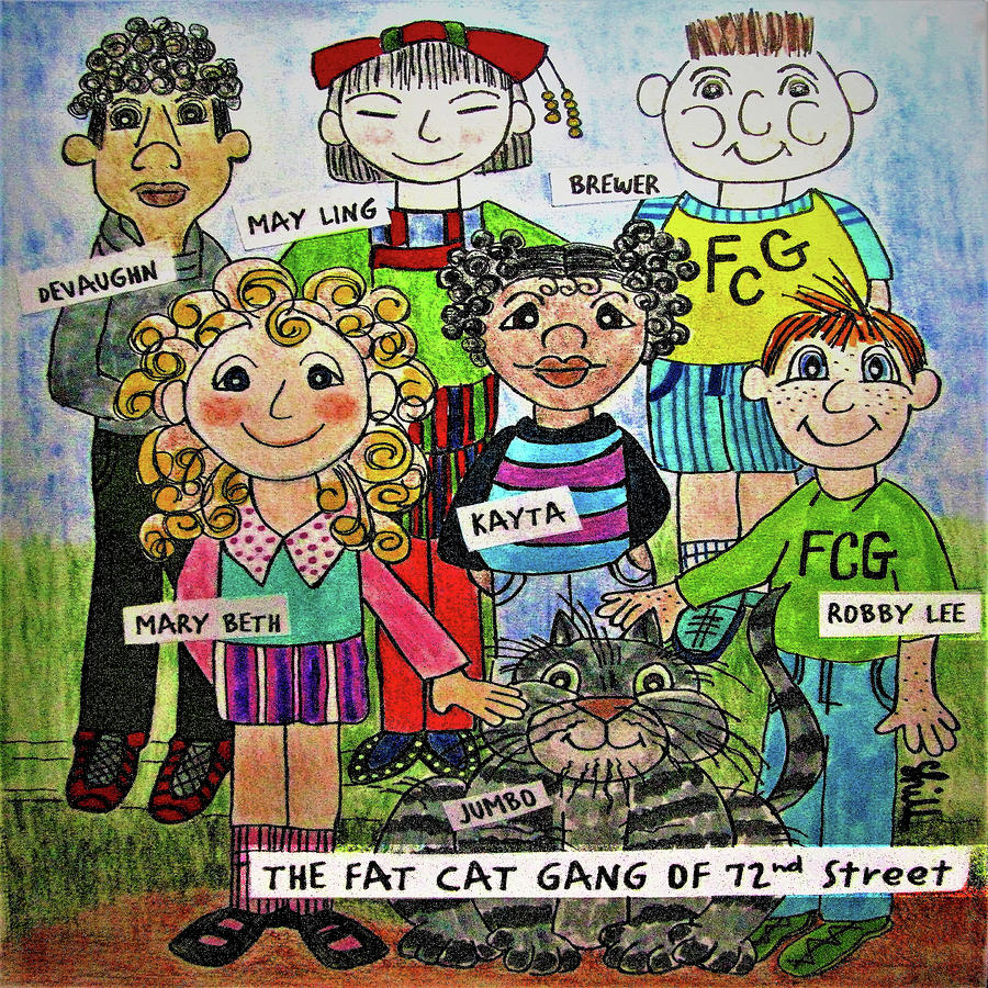 The Fat Cat Gang Of 72nd Street Drawing