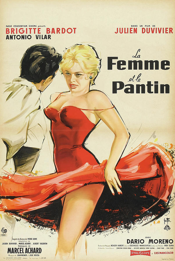 the Female, With Brigitte Bardot, 1959 Mixed Media