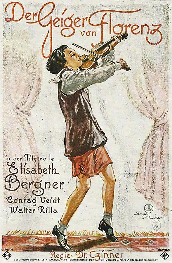 the Fiddler Of Florence, With Elisabeth Bergner And Conrad Veidt, 1926 Mixed Media