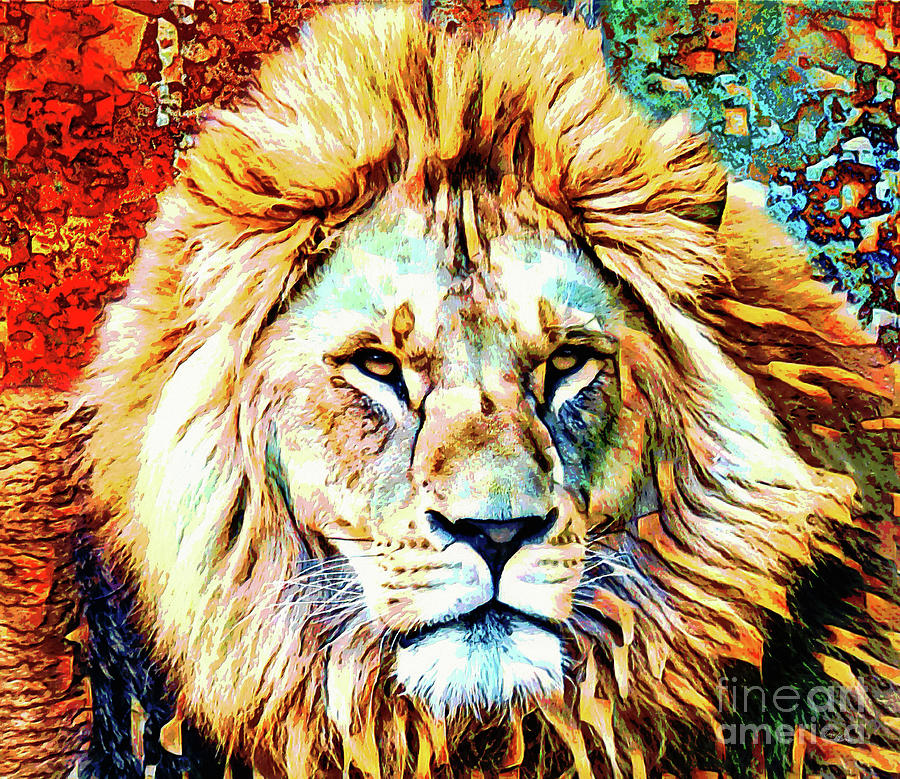 The Fierce Lion Digital Art