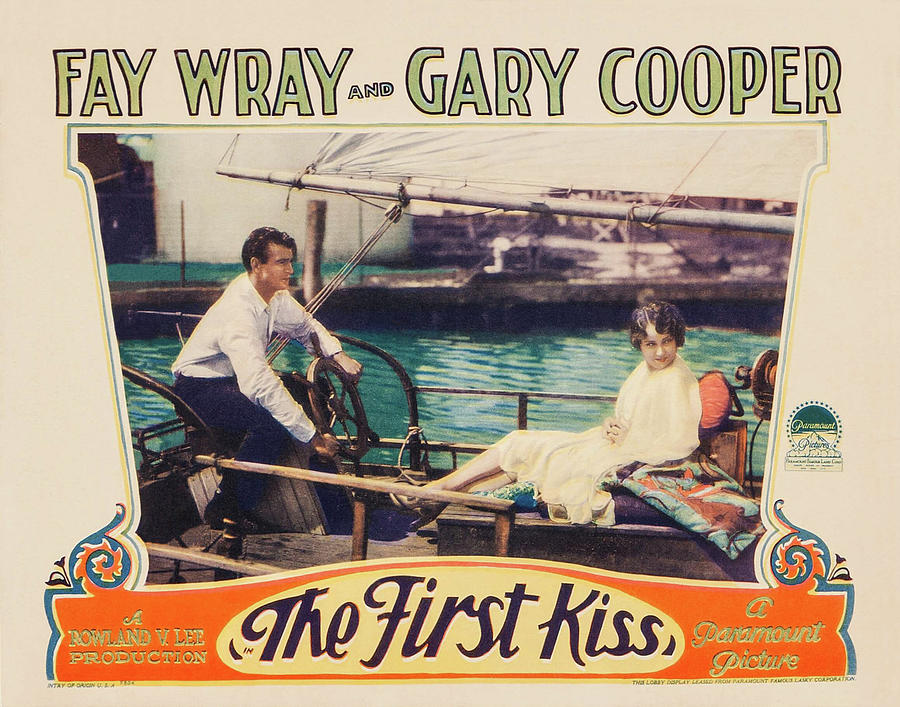 the First Kiss, With Fay Wray And Gary Cooper, 1928 Mixed Media