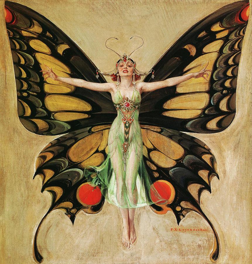 Leyendecker Painting - The Flapper, 1922 by Frank James Leyendecker