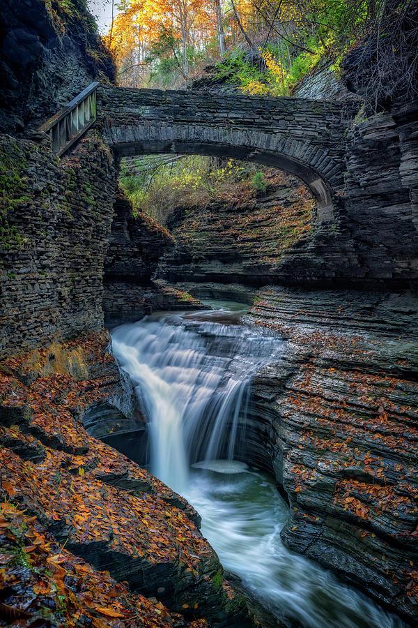 The Footbridge Over Rainbow Falls by Rick Berk