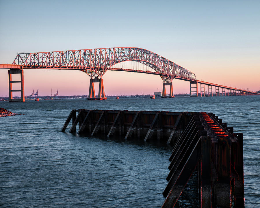 The Frances Scott Key Bridge at Sunrise by Mark Dodd
