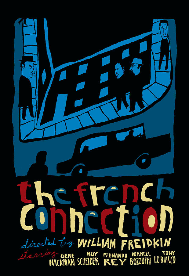 The French Connection Mixed Media - The French Connection Alternative Movie Poster by JB Perkins