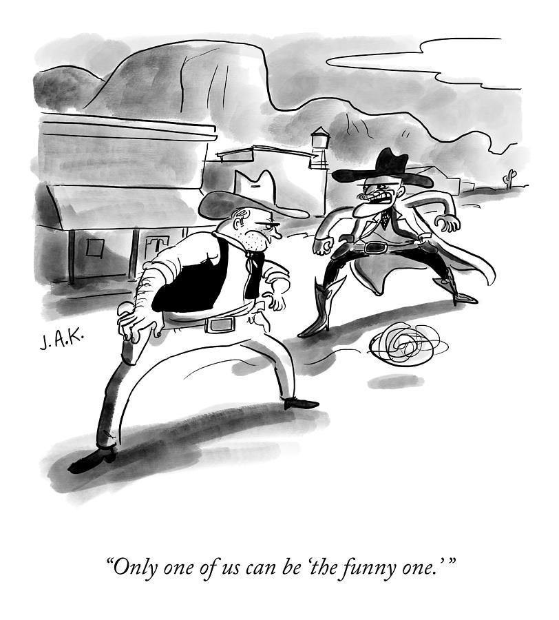 The Funny One Drawing by Jason Adam Katzenstein