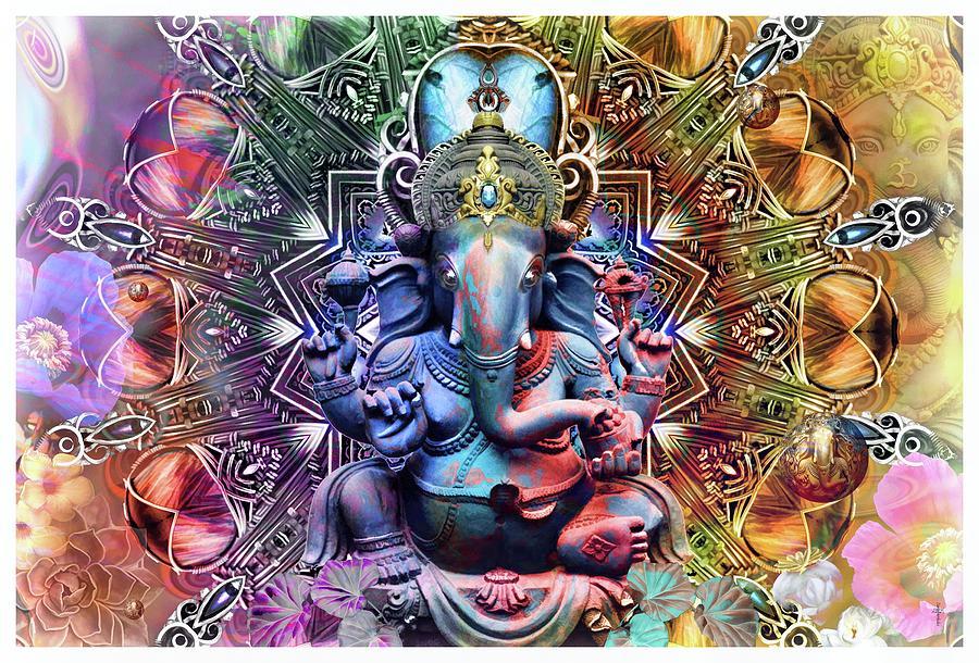 The Ganesha Mandala Digital Art