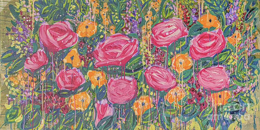 English Garden Painting - The Garden by Amanda Armstrong