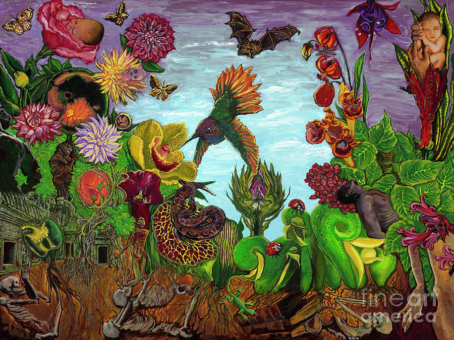 Garden Painting - The Garden by Emily McLaughlin