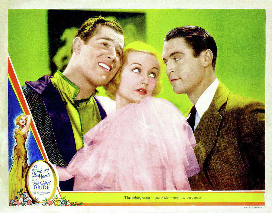 the Gay Bride, With Carole Lombard And Chester Morris, 1934 Mixed Media