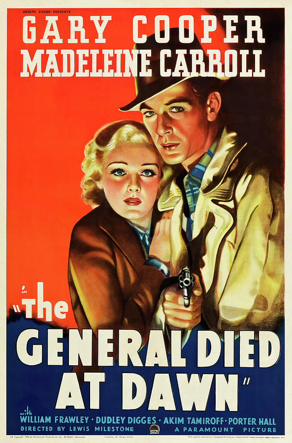 the General Died At Dawn, With Gary Cooper And Madeleine Carroll, 1936 Mixed Media