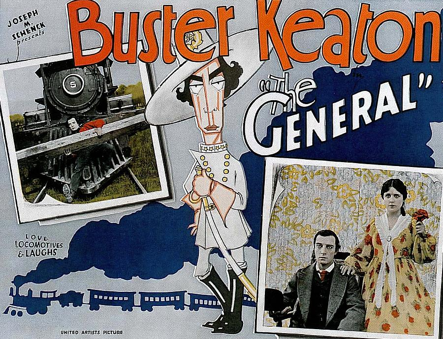the General, With Buster Keaton, 1927 Mixed Media