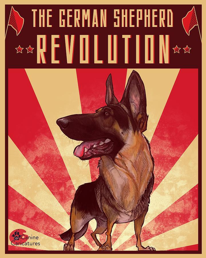 The German Shepherd Revolution Drawing