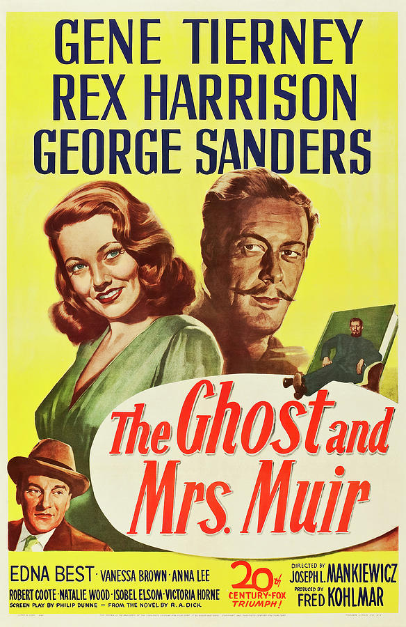 the Ghost And Mrs. Muir Poster 1947 Mixed Media