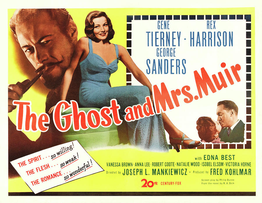 the Ghost And Mrs. Muir With Gene Tierney, 1947 Mixed Media