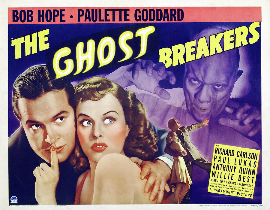 the Ghost Breakers, With Bob Hope And Paulette Goddard, 1940 Mixed Media