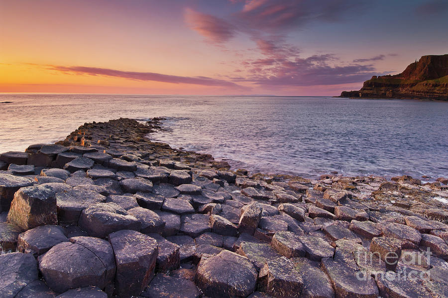 The Giants Causeway sunset, Northern Ireland by Neale And Judith Clark