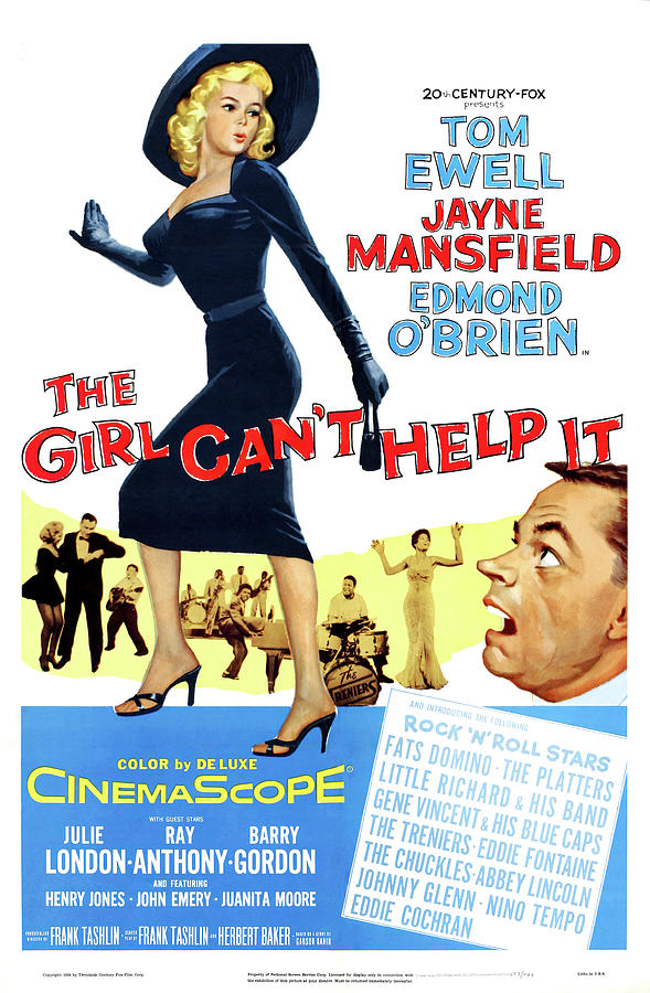 the Girl Cant Help It, With Tom Ewell And Jayne Mansfield, 1956 Mixed Media