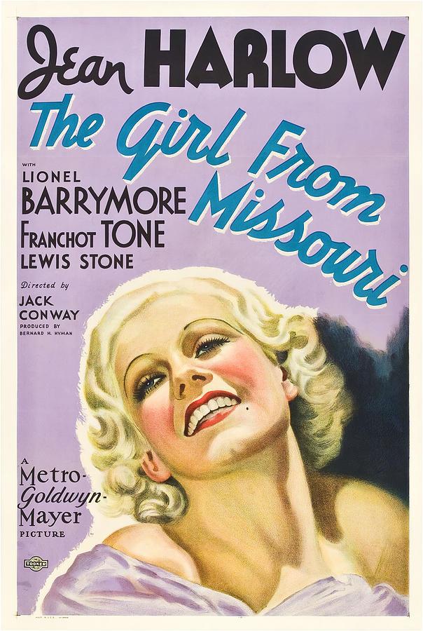 the Girl From Missouri - 1934 Mixed Media