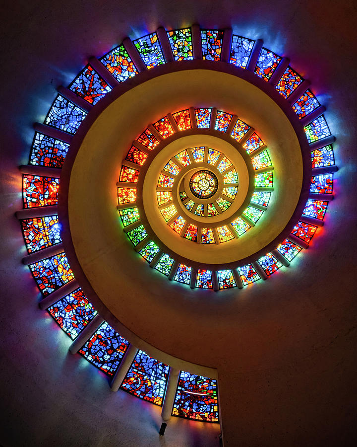 The Glory Window - Dallas Thanks-giving Square Chapel Photograph