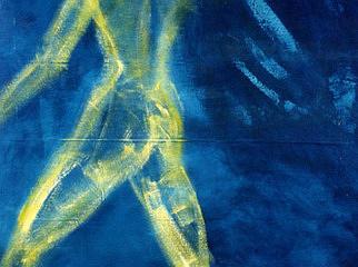 Figure Painting - The glow of departure by Ingrid Torjesen